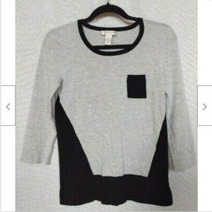 Kenar grey black crew neck classic sweater size XS